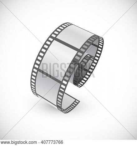 film-roll film strip isolated on white