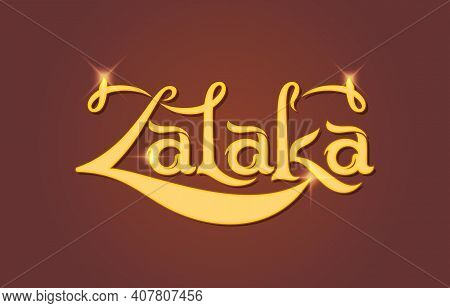Logo Concept Of Zalaka, Zalaka The Brand Label Of Syrup, Juice And Etc. For Packaging Label, Logo Br