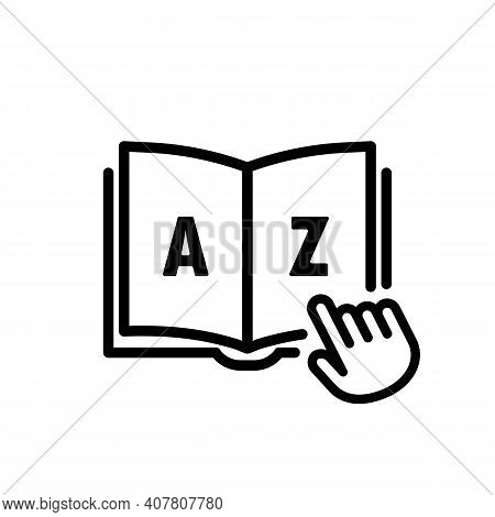 Dictionary Icon. Internet Education Concept, E-learning Resources, Remote Online Courses. Glossary.