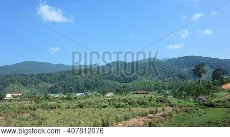 View Of The Mountainside. Vietnam Khanh Hoa District
