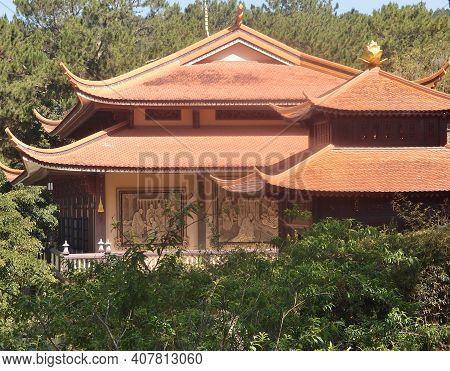 Thienvien Monastery Chuk Lam In Dalat Vietnam