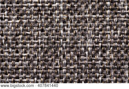 Close Up Gray Fabric Textile Texture Background