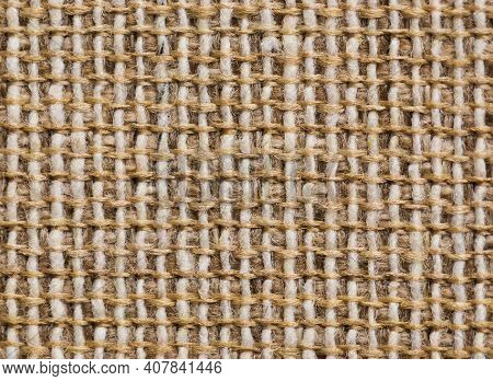 Close Up Of Beige Fabric Textile Texture Background
