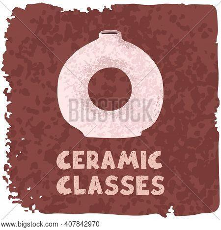 Colorful Illustration Of Ceramic Vase, Ceramic Classes