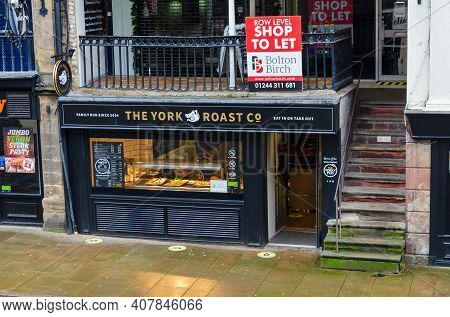 Chester; Uk: Jan 29, 2021: The York Roast Co Is A Sandwich Shop Which Specialises In Roast Meats Cho