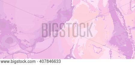 Pink Elegant Background. Liquid Marble Water. Vintage Luxury Wall. Ink Illustration. Rose Elegant Ba