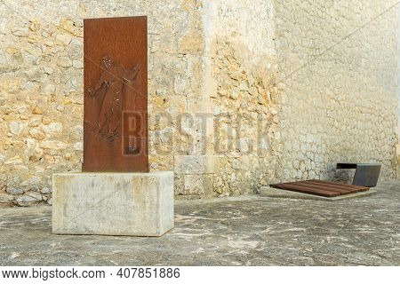 Porreres, Spain; February 11 2021: Monument For The Reprisals Of The Spanish Civil War Called El Rac