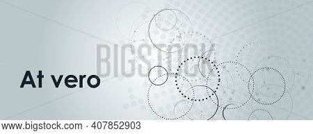 Connect Dotted Circle In Abstract Style. Graphic Design Template. Abstract Geometric Background. Gra