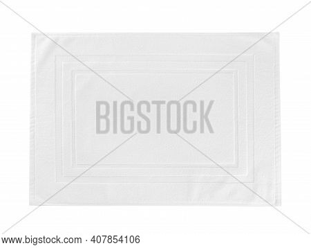 White Towel Mockup Flat Lay Unfolded, Top View
