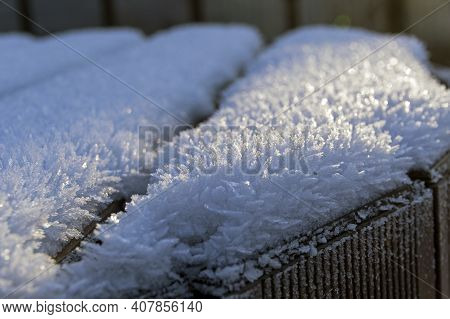 Ice Crystals As A Result Of The Crystallization Of Moisture In The Air.