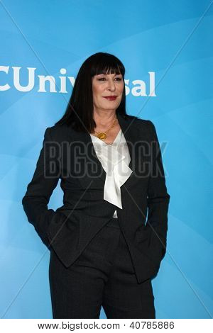 LOS ANGELES - JAN 6:  Anjelica Huston attends the NBCUniversal 2013 TCA Winter Press Tour at Langham Huntington Hotel on January 6, 2013 in Pasadena, CA
