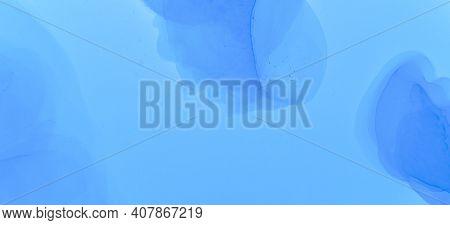 Pastel Flow Liquid. Pink Pastel Flow Water. Contemporary Paint Background. Blue Watercolour Backgrou