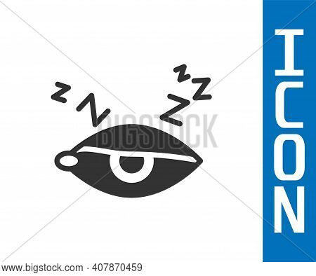 Grey Insomnia Icon Isolated On White Background. Sleep Disorder With Capillaries And Pupils. Fatigue