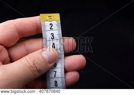 Soft Measuring Tape.  Tape Measure With Metric Scale