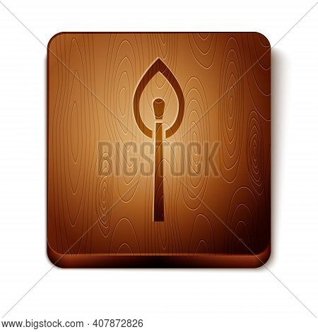 Isometric Burning Match With Fire Icon Isolated On White Background. Match With Fire. Matches Sign.