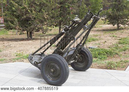 Sevastopol, Crimea, Russia - July 28, 2020: Regimental Mortar Of 120 Mm Caliber Sample 1938 In The M