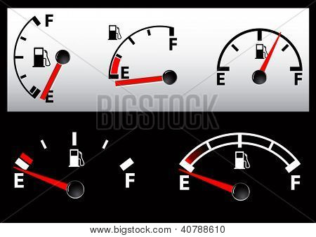 set of Gas Tank Illustration - vector illustration