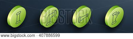 Set Isometric Industry Metallic Pipe, Industry Metallic Pipe, Industry Metallic Pipe And Industry Me