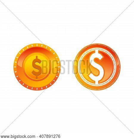 Set Money Changer, Dollar Illustration Logo Vector.eps 10