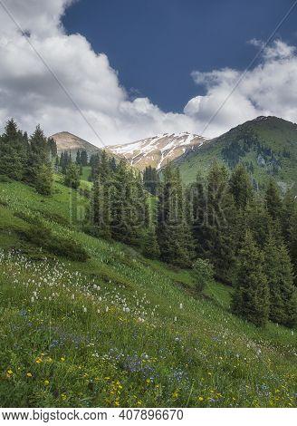 Furmanov Peak In Mountain Ridge Alatau,  Almaty, Kazakhstan, Zailiysky  Almaty, Kazakhstan, Kimasar