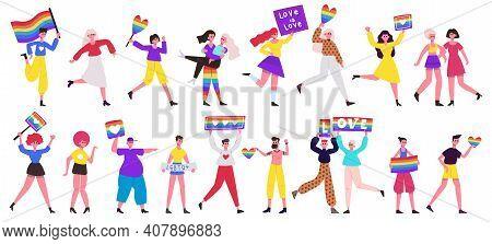 Lgbt Pride Parade. Love Parade, Lesbian, Gay, Bisexual And Transgender Community Movement. Pride Par