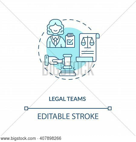 Legal Teams Concept Icon. Contract Management Advices For Software Users. Organisation Accountable D