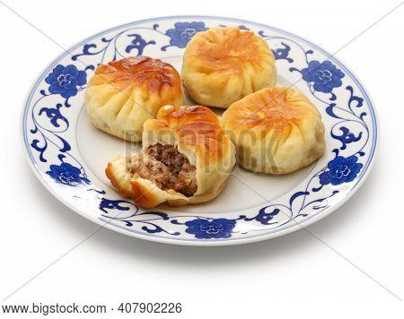 homemade shui jian bao, taiwanese pan fried pork buns