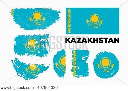 Vector Kazakhstan Flag, Kazakhstan Flag Illustration, Kazakhstan Flag Picture