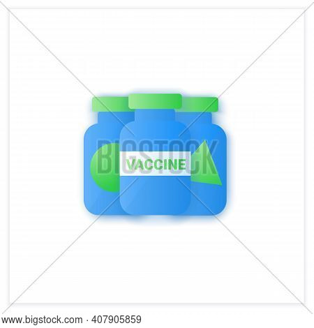 Covid19 Vaccine Samples Flat Icon. Vaccines From Different Countries. Cure Search, Vaccine Developme