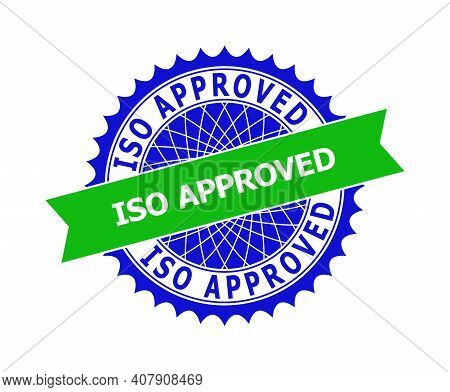 Vector Iso Approved Bicolor Template For Imprints With Clean Surface. Flat Clean Seal Template With