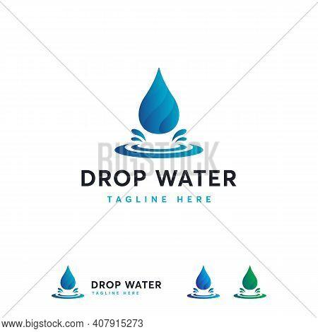 Modern Water Drop Logo Symbol Designs, Fresh Water Logo Designs Vector