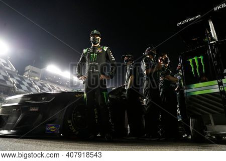 February 10, 2021 - Daytona Beach, Florida, USA: Kurt Busch (1) gets ready to qualify for the Daytona 500 at Daytona International Speedway in Daytona Beach, Florida.