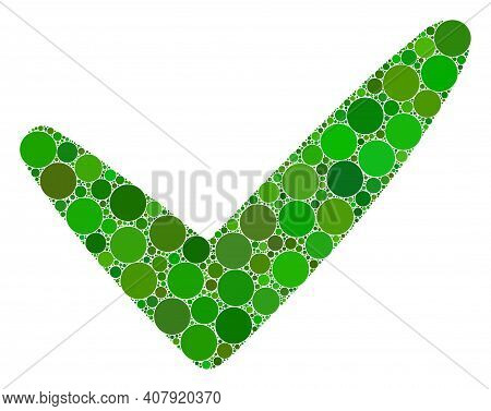 Yes Vector Collage Of Dots In Different Sizes And Color Tints. Dots Are United Into Yes Vector Colla