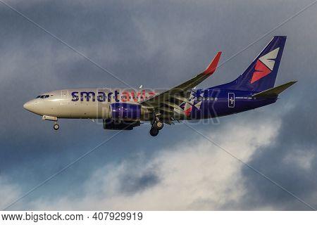 Saint Petersburg, Russia - October 28, 20208: Airplane Boeing 737-700 (vq-bbi) Of Smart Avia Airline