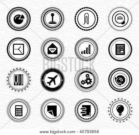 Vintage retro business labels and badges