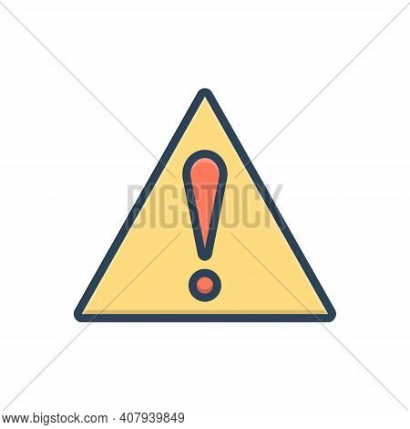Color Illustration Icon For Important-sign Significantly Risk Caution Danger Prevent Security Precau