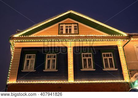 Wooden House In Tatar Settlement Of Kazan