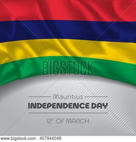 Mauritius Happy Independence Day Greeting Card, Banner Vector Illustration