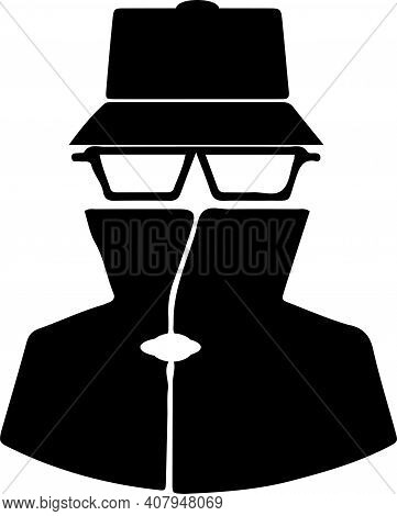 Spy Icon Isolated On White Background  Vacant, Vector, Wanted, Work