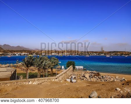 View Of Sharm El Maya Bay And The Beach From The Sandy Hill In Sharm El Sheikh (egypt). Exotic Topic