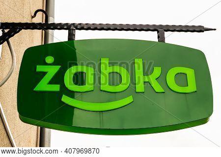 Olsztyn, Poland -31.07.2020 - Logo Of The Zabka Store In Olsztyn