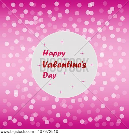 Valentine's Day Text For Celebrates The Special Day. 14 February. Love Relationship Vector Design. M