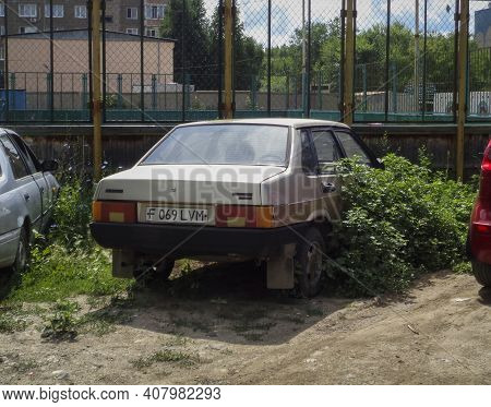 Kazakhstan, Ust-kamenogorsk, July 2, 2020: Lada Samara (vaz 21099, Lada Sputnik) Old Russian Car. Ol