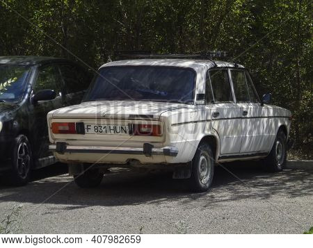 Kazakhstan, Ust-kamenogorsk, July 19, 2020: Vaz 2106. Lada 1600. Zhiguli Classic Soviet Car