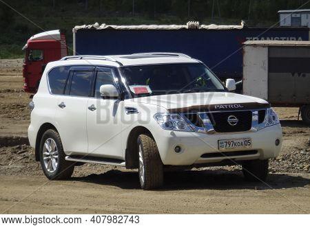 Kazakhstan, Ust-kamenogorsk, July 25, 2020: Nissan Patrol, Sixth Generation (y62; 2010-present)