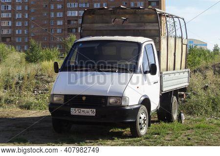 Kazakhstan, Ust-kamenogorsk, August 1, 2020: Gaz 3302 Gazelle. Commercial Vehicles