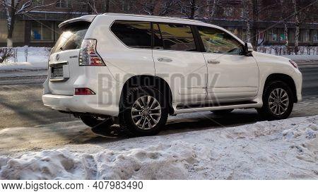 Kazakhstan, Ust-kamenogorsk, January 11, 2020: Lexus Gx 460. Mid-size Suv
