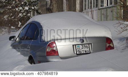 Kazakhstan, Ust-kamenogorsk, February 20, 2020: Volkswagen Passat B5. 2001 Facelift (passat B5.5 - T