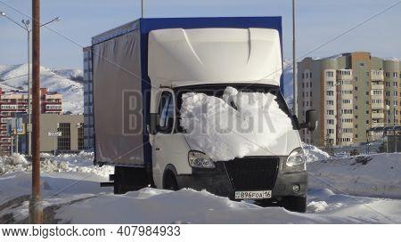 Kazakhstan, Ust-kamenogorsk, February 21, 2020: Gazelle Business. Russian Light Commercial Vehicle