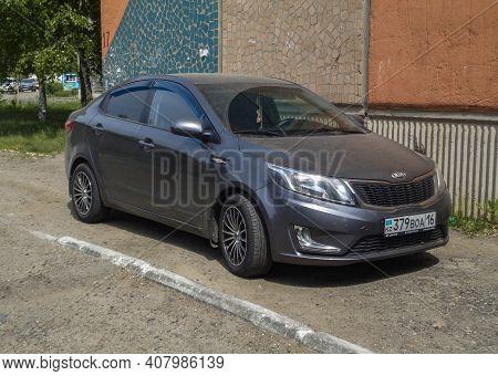 Kazakhstan, Ust-kamenogorsk, May 15, 2020: Kia Rio. Subcompact Car